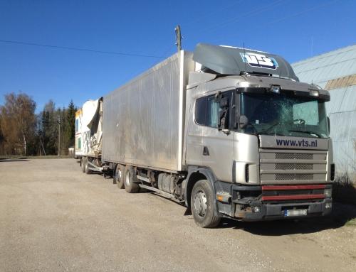 Scania R114 ja haagis Schmitz, kaskokindlustusjuhtum