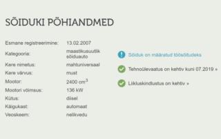 14df1157e07 Firmasõidukite registreerimine ainult töösõitudeks
